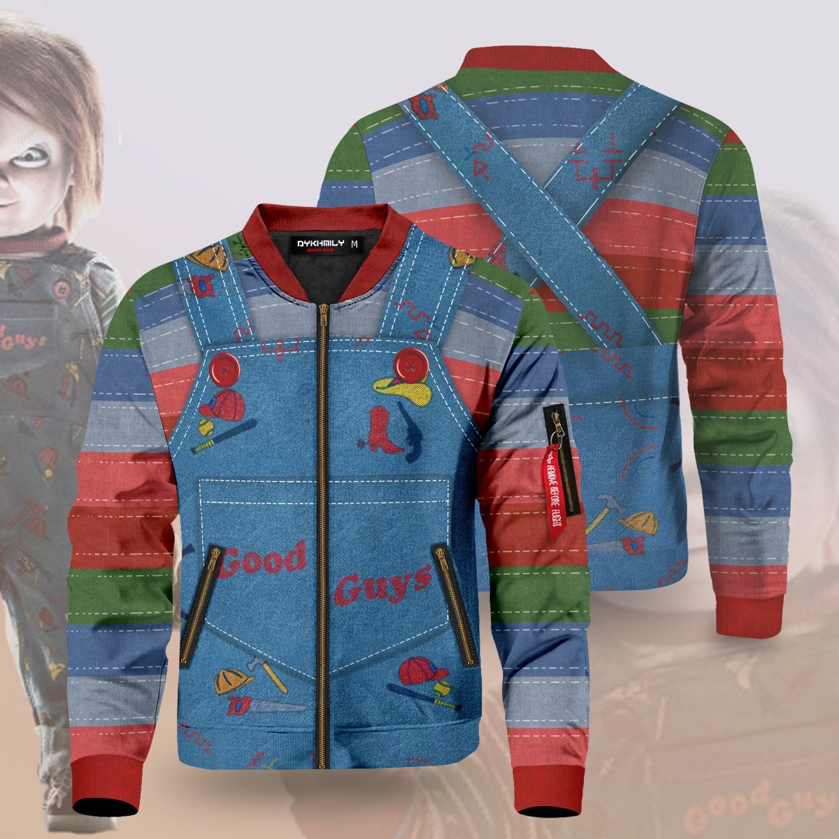 Chucky The Doll Bomber Jacket S