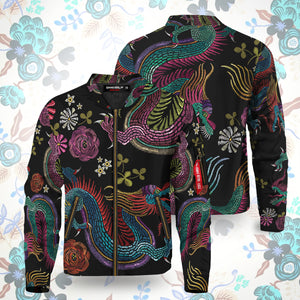 Floral Dragon Bomber Jacket