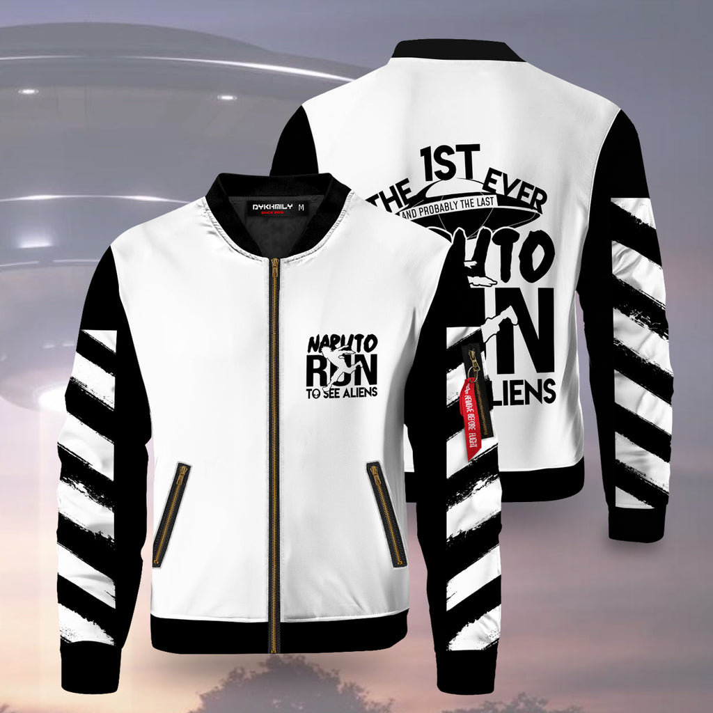 Naruto Run To See Aliens Bomber Jacket