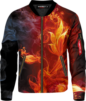 Smoky Hot Flower Bomber Jacket