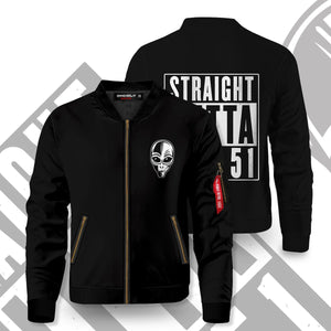 Straight Outta Area 51 Bomber Jacket S