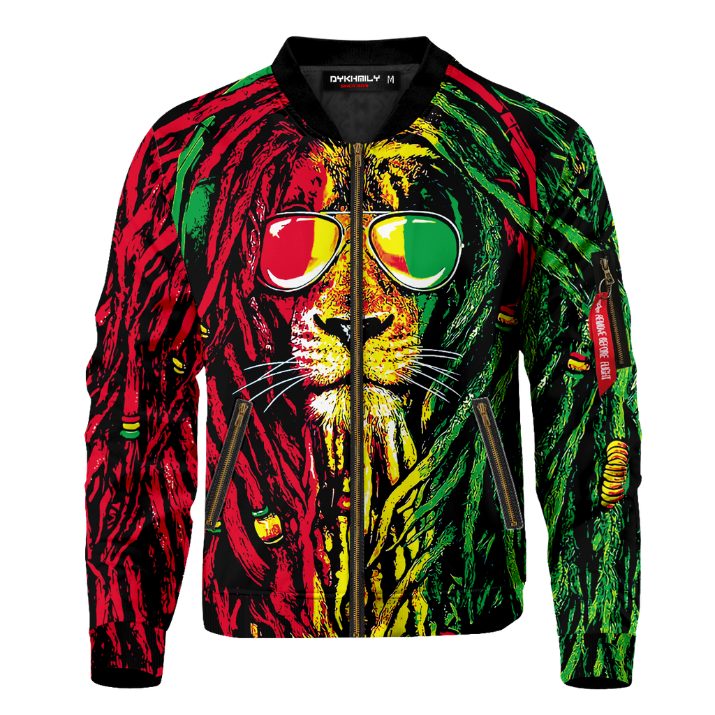 Dreadlocks Rasta Bomber Jacket