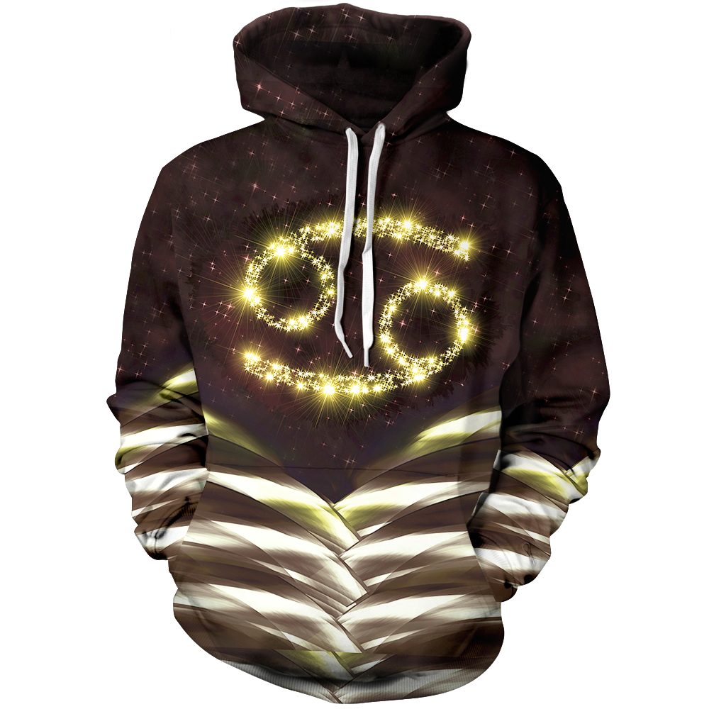 Cancer Galaxy Unisex Pullover Hoodie M