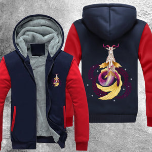 Capricorn Galaxy 02 Fleece Jacket Red / S