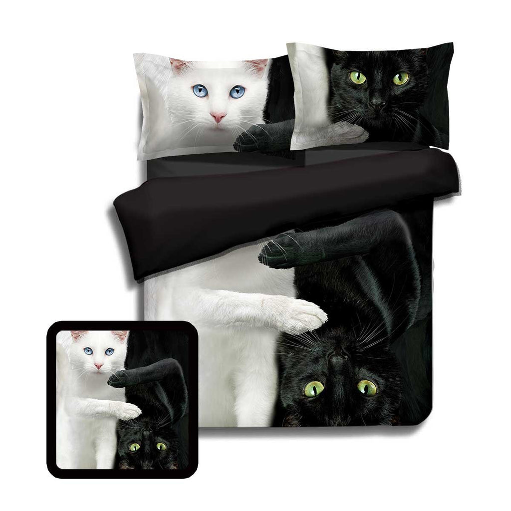 Yin Yang Cats Bedding Set Twin Beddings
