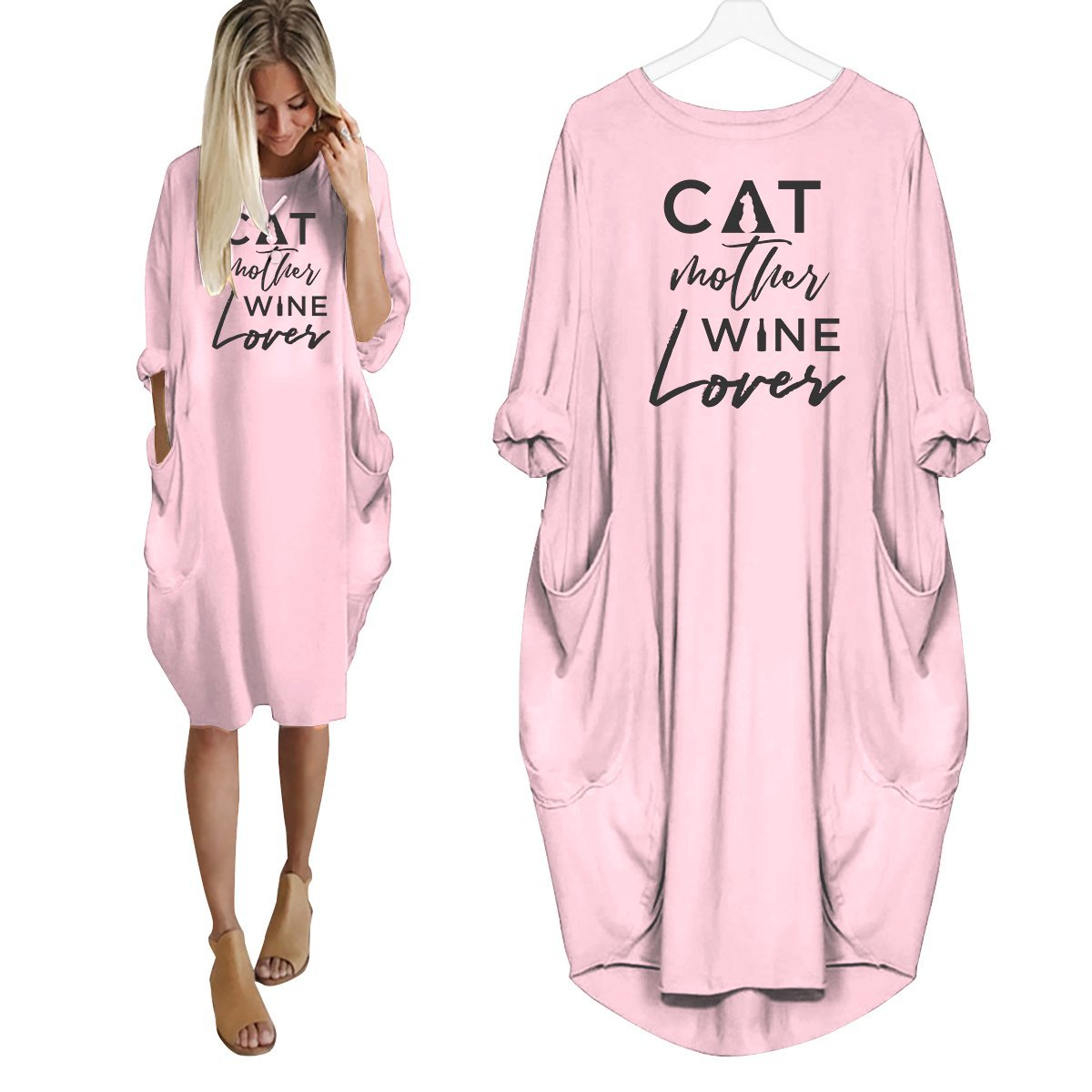 Cat Mother Wine Lover Dress