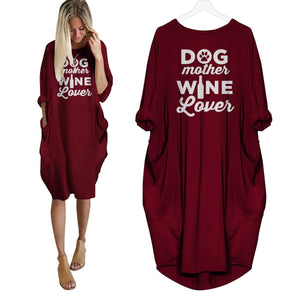 Dog Mother Wine Lover Dress Red / S