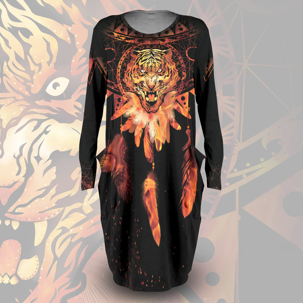 Blazing Tiger Dream Catcher Dress
