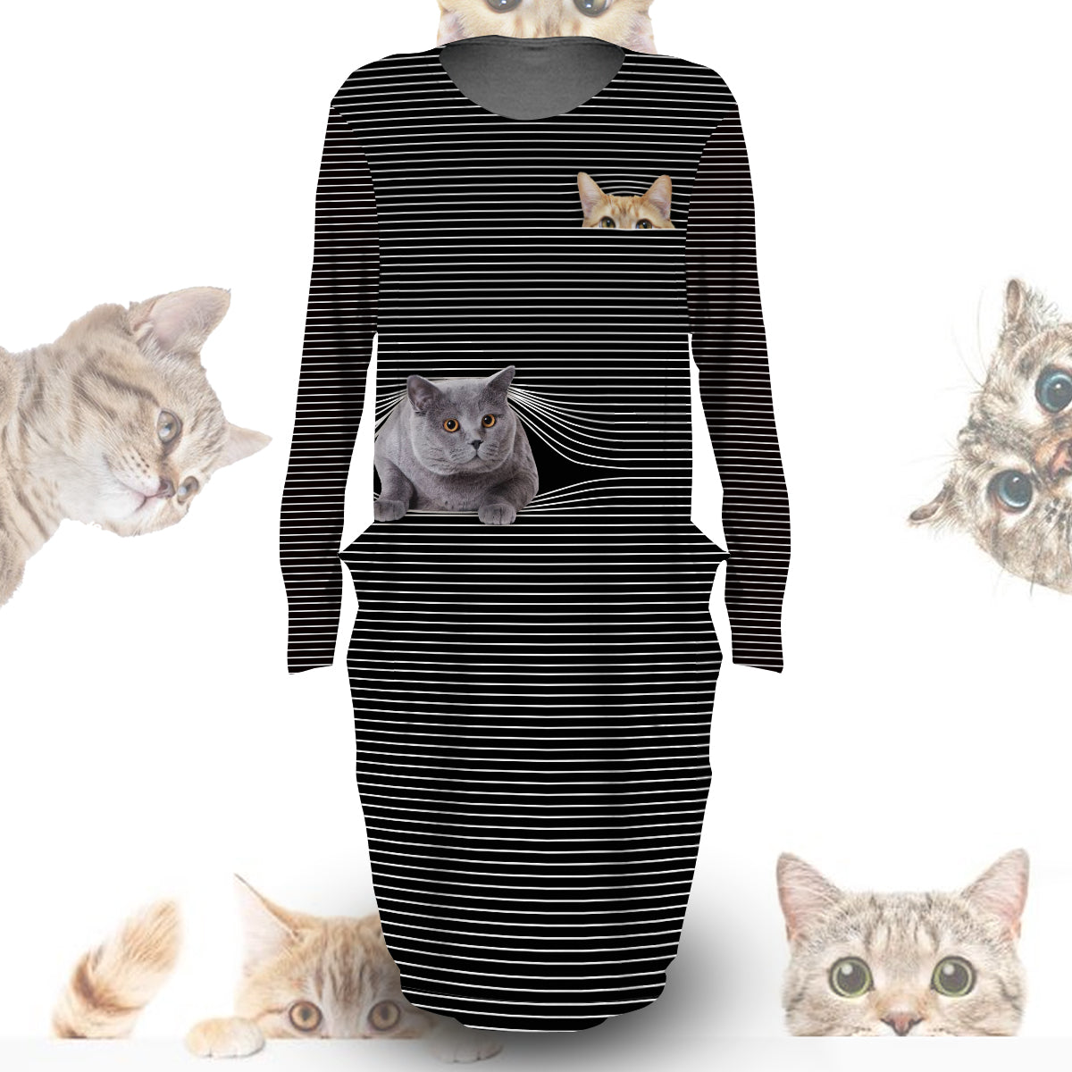 Cat Hide And Seek Dress