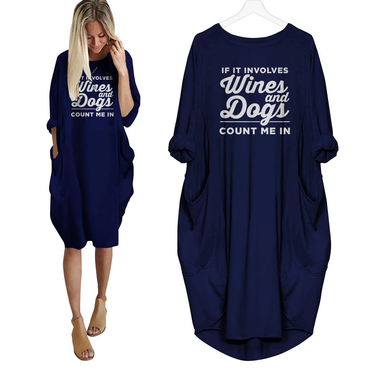 Wine and Dogs Dress