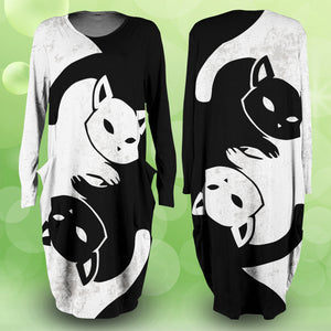 Yin Yang Feline Dress