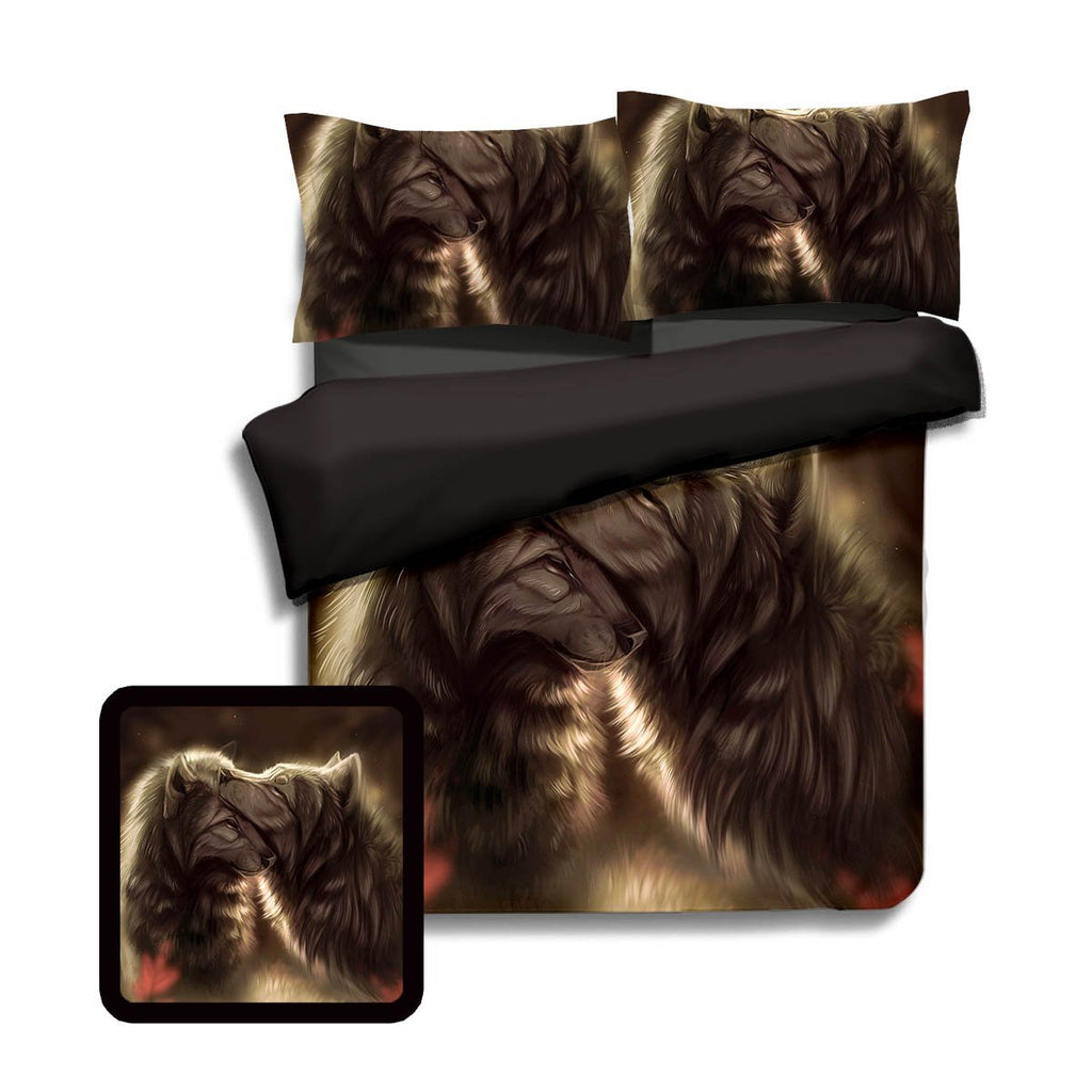 Divine Couple Wolf Bedding Set Twin Beddings