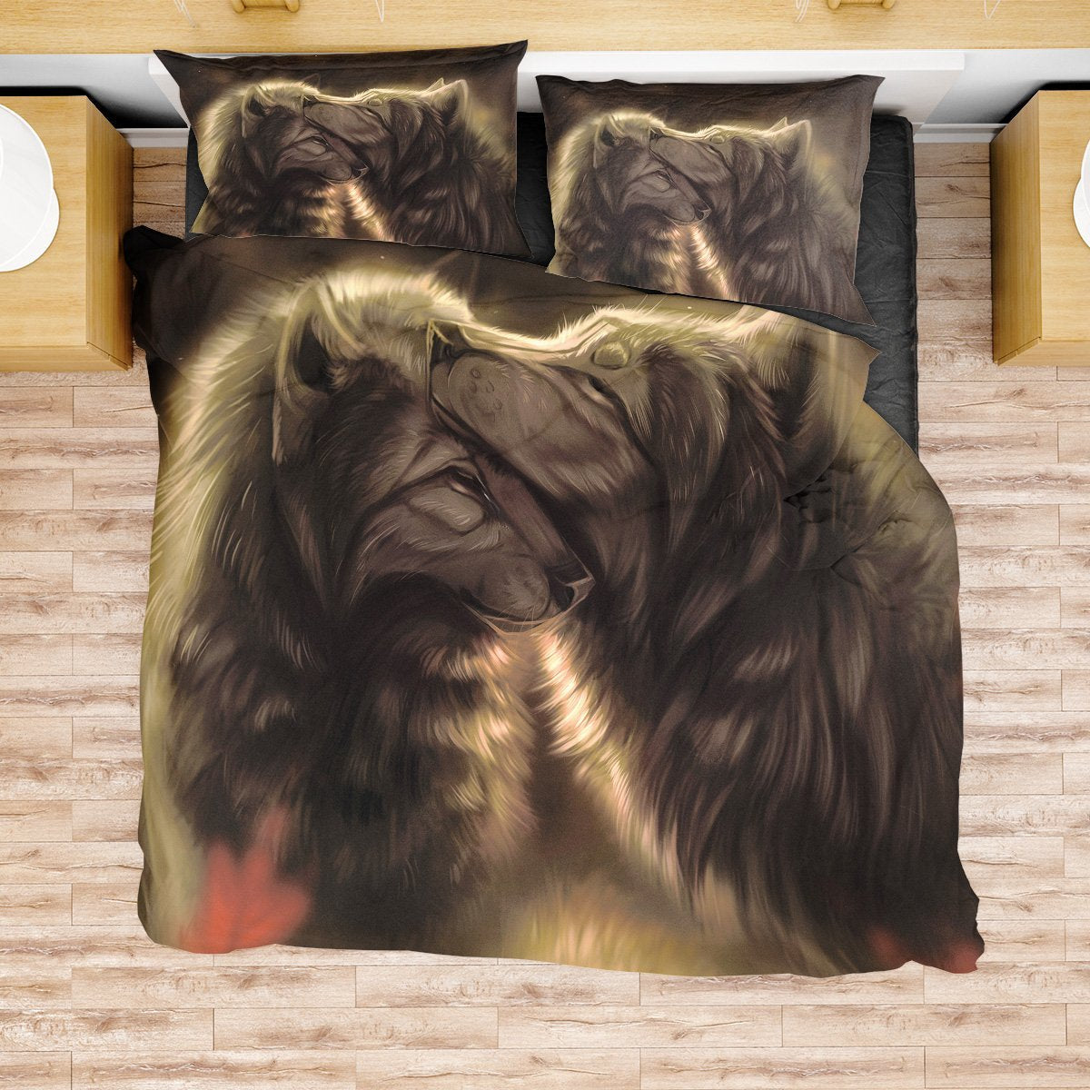 Divine Couple Wolf Bedding Set Beddings