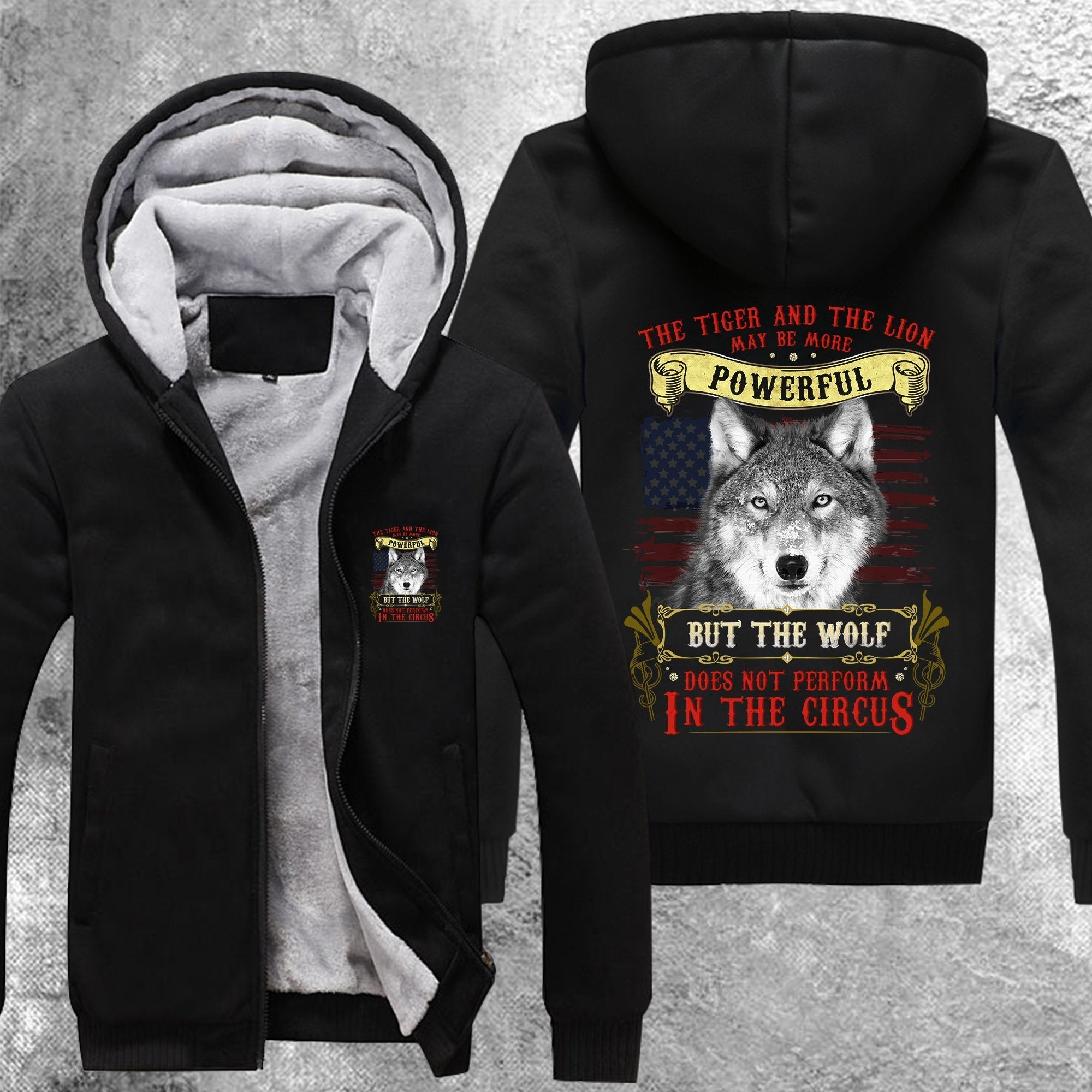 Wolf Does Not Perform In The Circus Fleece Jacket Black / S