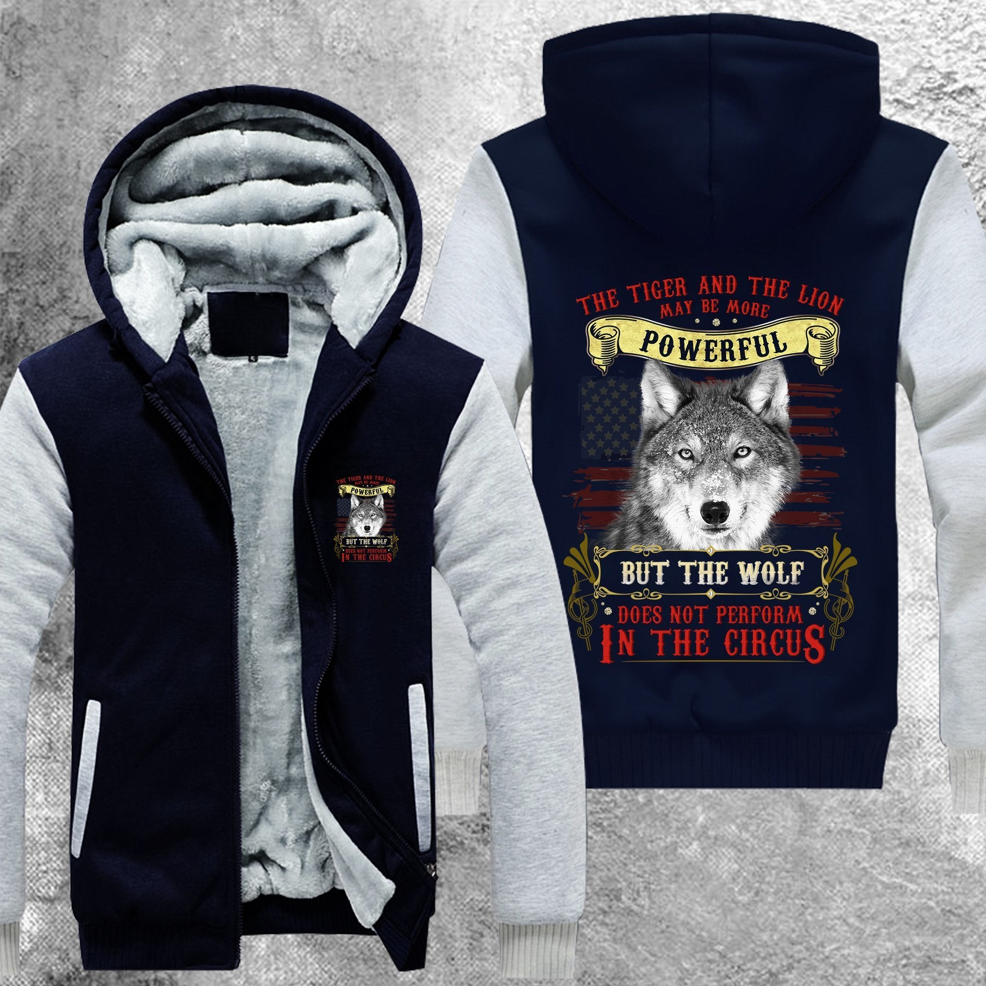Wolf Does Not Perform In The Circus Fleece Jacket Blue / S