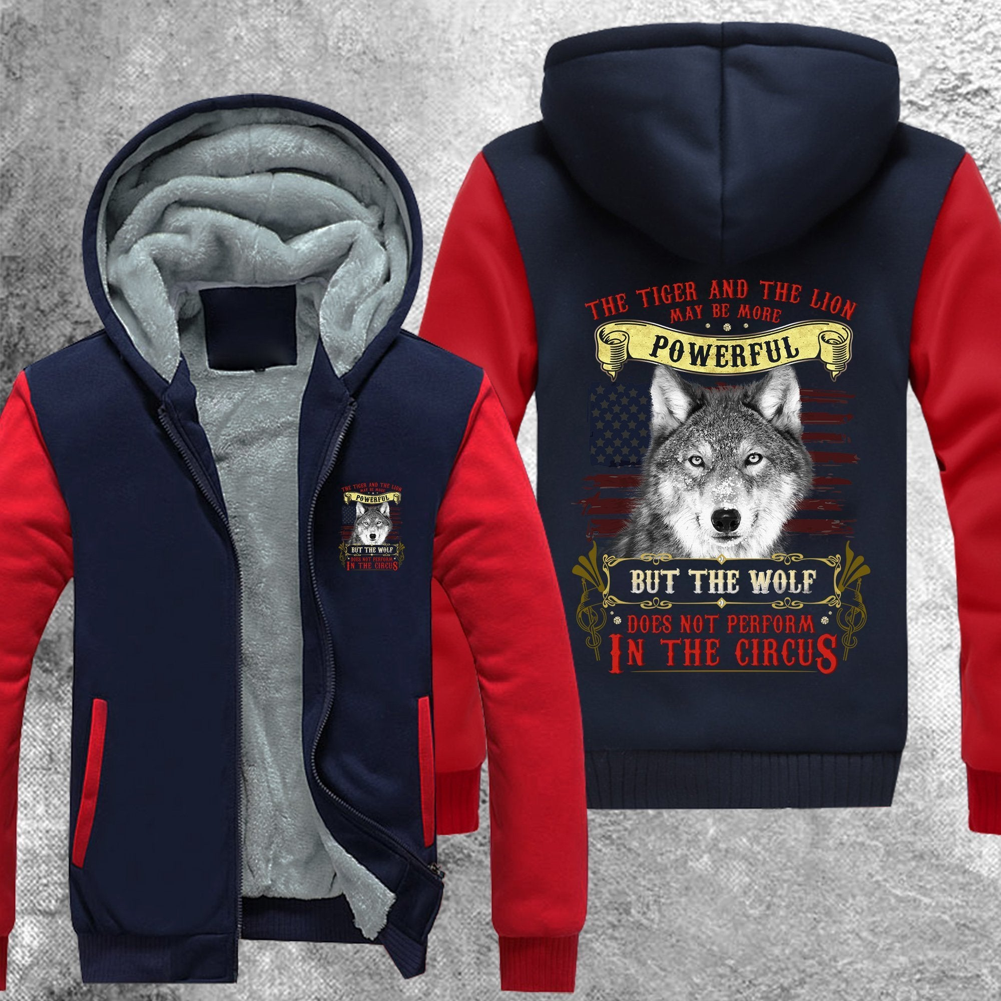 Wolf Does Not Perform In The Circus Fleece Jacket Red / S