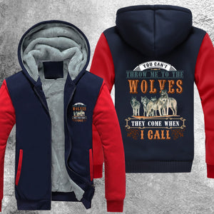 You Cant Throw Me To The Wolves Fleece Jacket Red / S