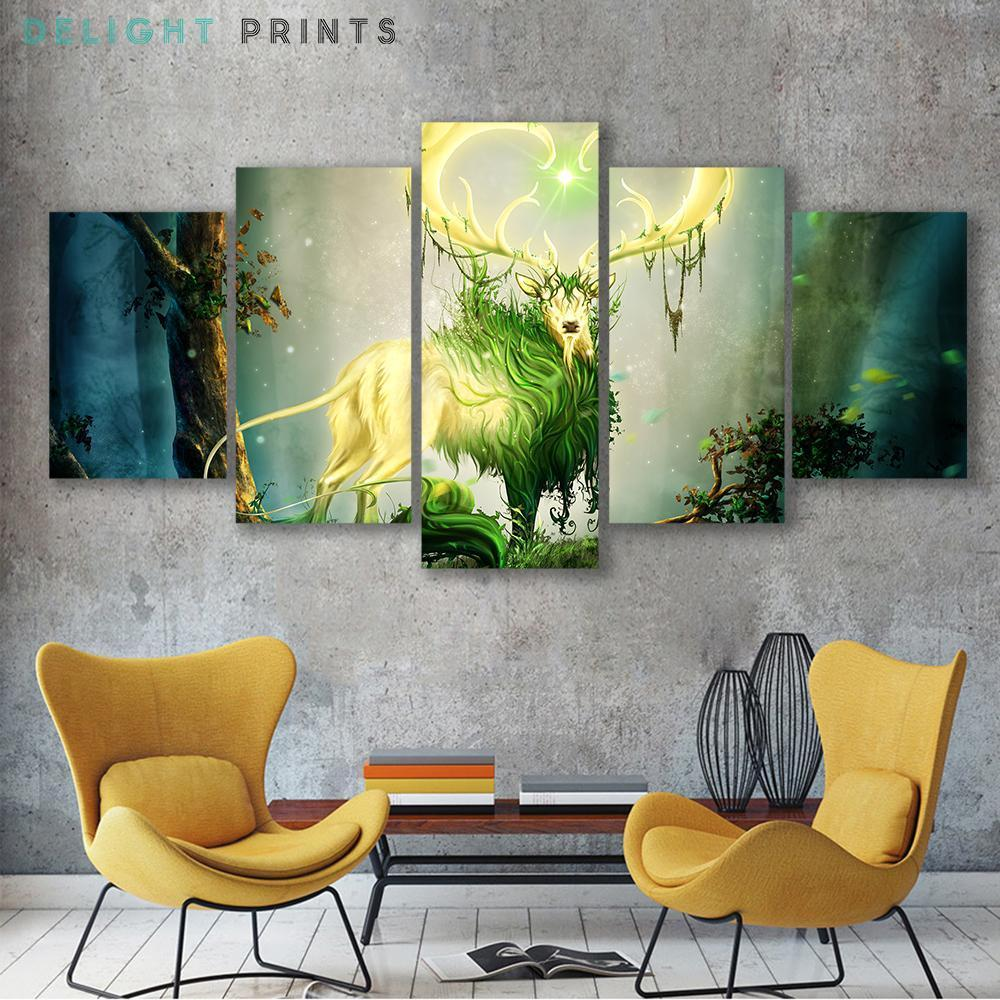 Forest Lord 5 Piece Canvas Small / No Frame Wall