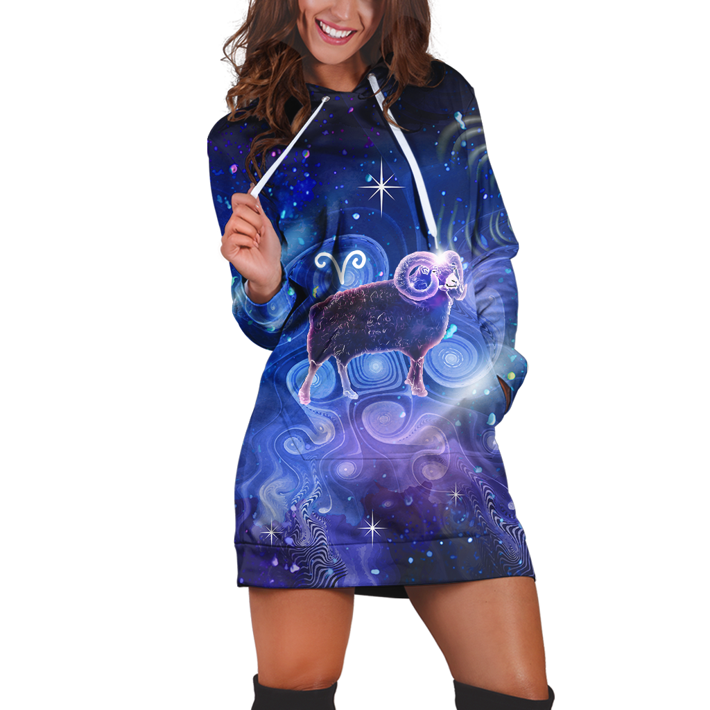 Aries Galaxy Hoodie Dress Xs