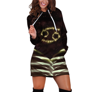 Cancer Galaxy Hoodie Dress Xs
