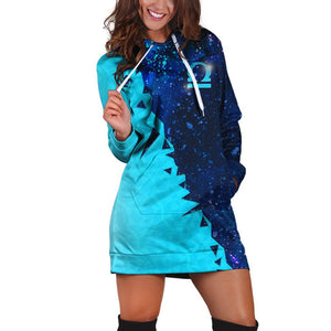 Libra Galaxy Hoodie Dress Xs