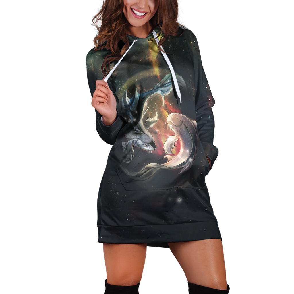 Pisces Galaxy Hoodie Dress Xs