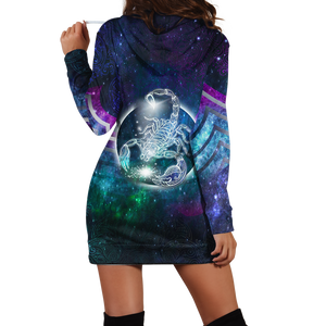 Scorpio Galaxy Hoodie Dress