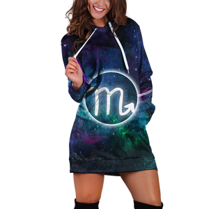 Scorpio Galaxy Hoodie Dress Xs