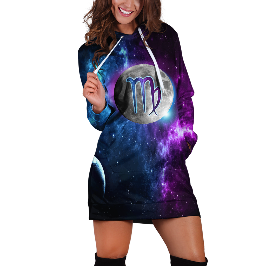 Virgo Galaxy Hoodie Dress Xs