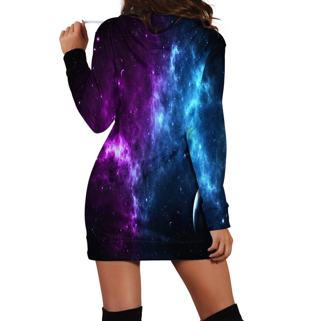 Virgo Galaxy Hoodie Dress