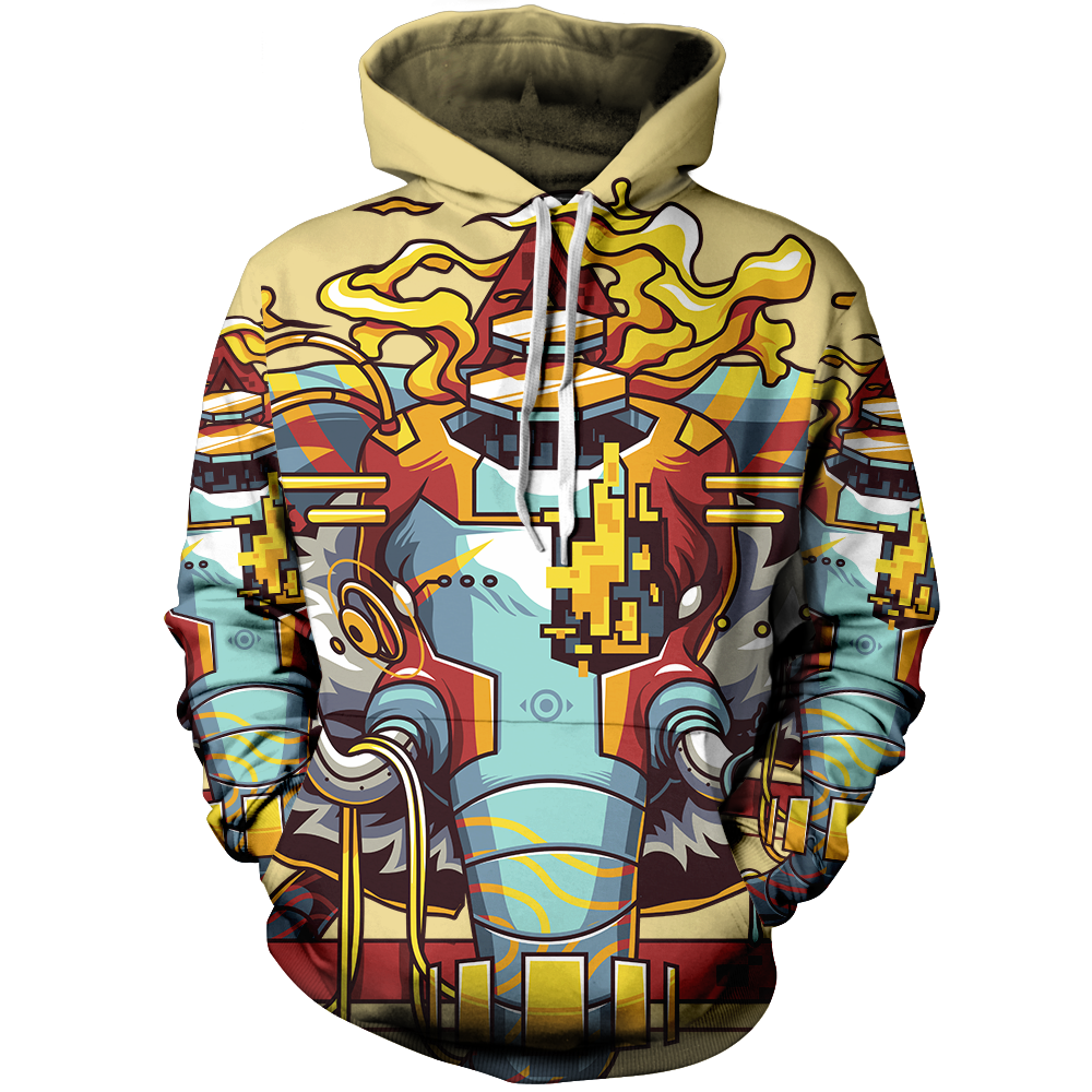 Android Elephant Unisex Pullover Hoodie M / Cream