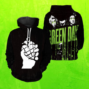 Green Day Unisex Pullover Hoodie S