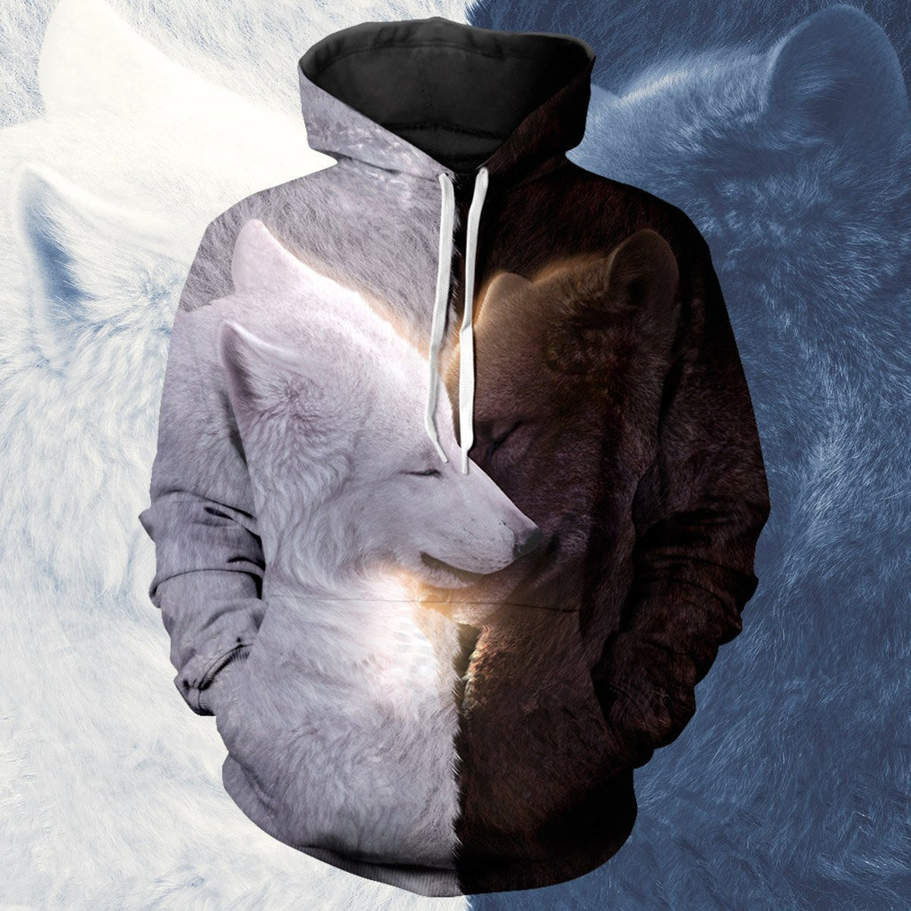 Wolf Mates Unisex Pullover Hoodie S