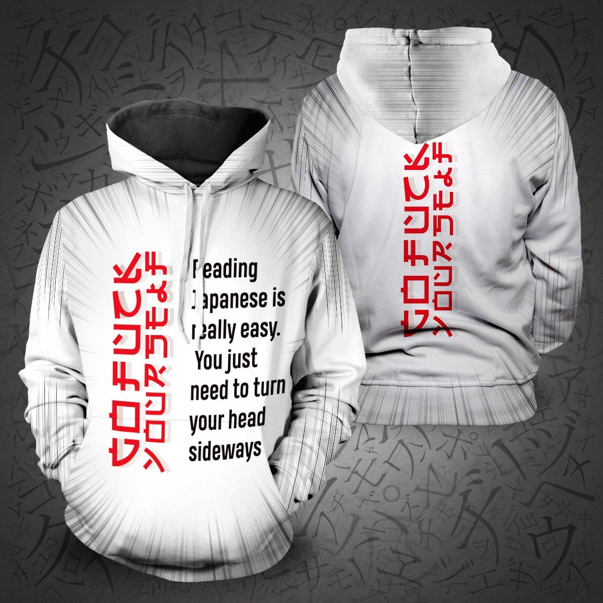 Learn Japanese Unisex Pullover Hoodie S / White