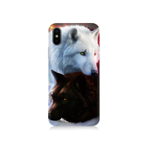 Yin Yang Fire Ice Wolves Phone Case Iphone 7