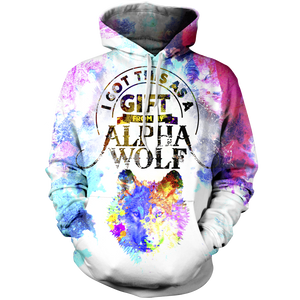 I Got This As A Gift From My Alpha Wolf Unisex Pullover Hoodie M