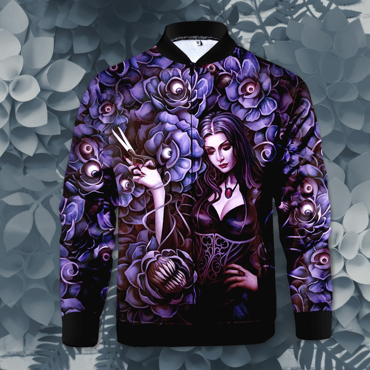 Morticia Addams Zipped Jacket S