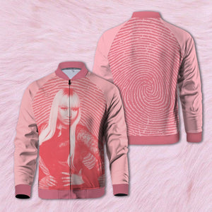 Pink Print Zipped Jacket S