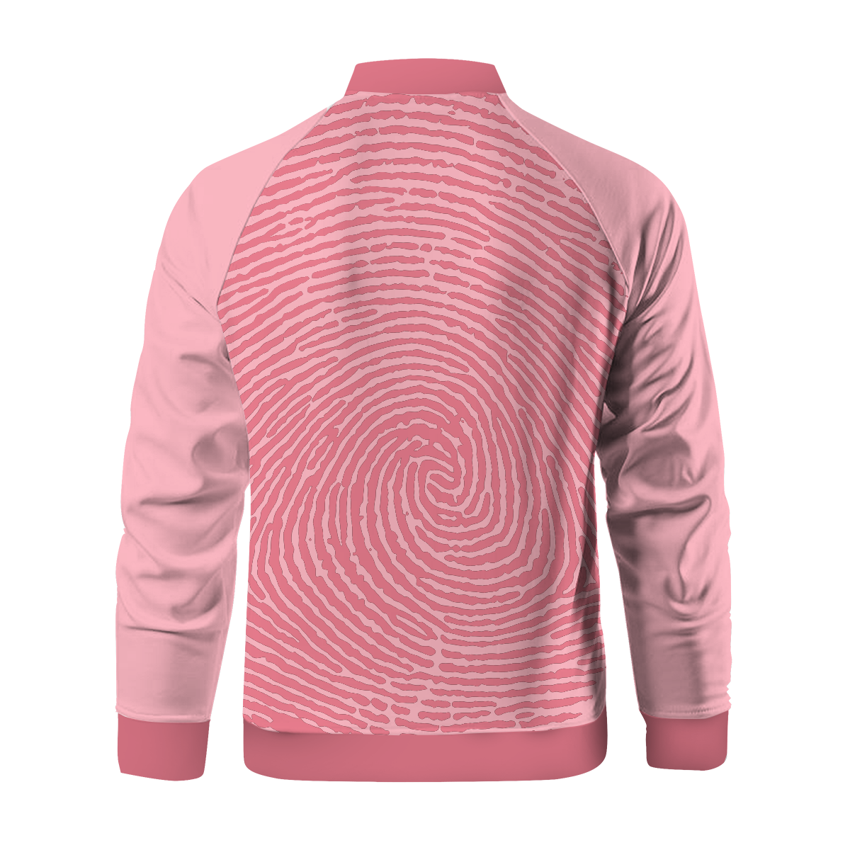 Pink Print Zipped Jacket