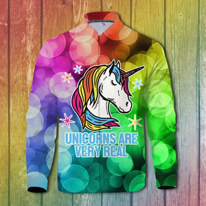 Unicorns Are Very Real Zipped Jacket S