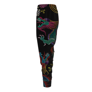 Floral Dragon Jogger Pants