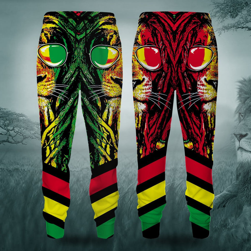 Dreadlocks Rasta Jogger Pants S