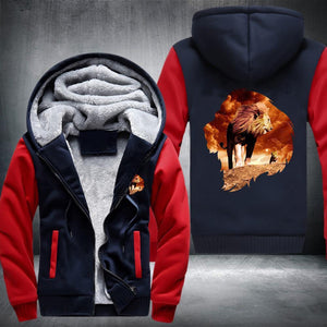 King Lion Fleece Jacket Red / S