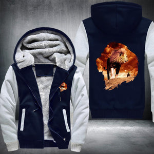 King Lion Fleece Jacket Blue / S