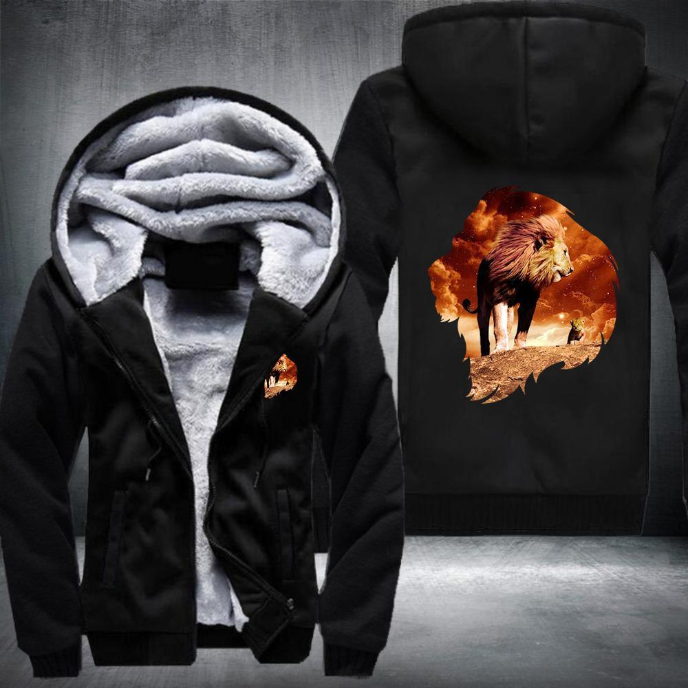 King Lion Fleece Jacket Black / S