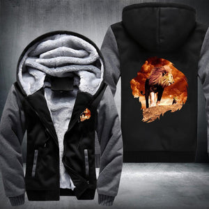 King Lion Fleece Jacket Grey / S