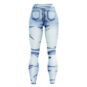 Cel Shaded Jeans Unisex Tights