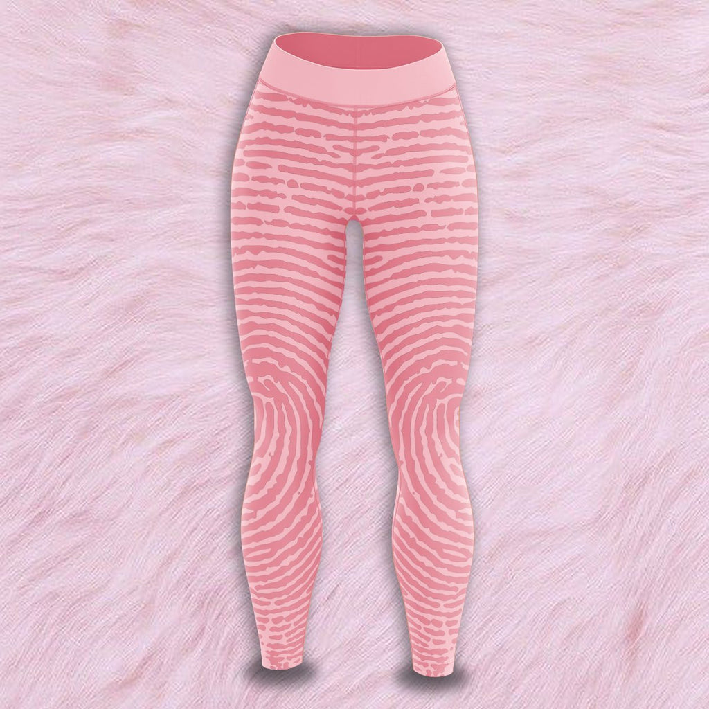 Pink Print Unisex Tights S Leggings
