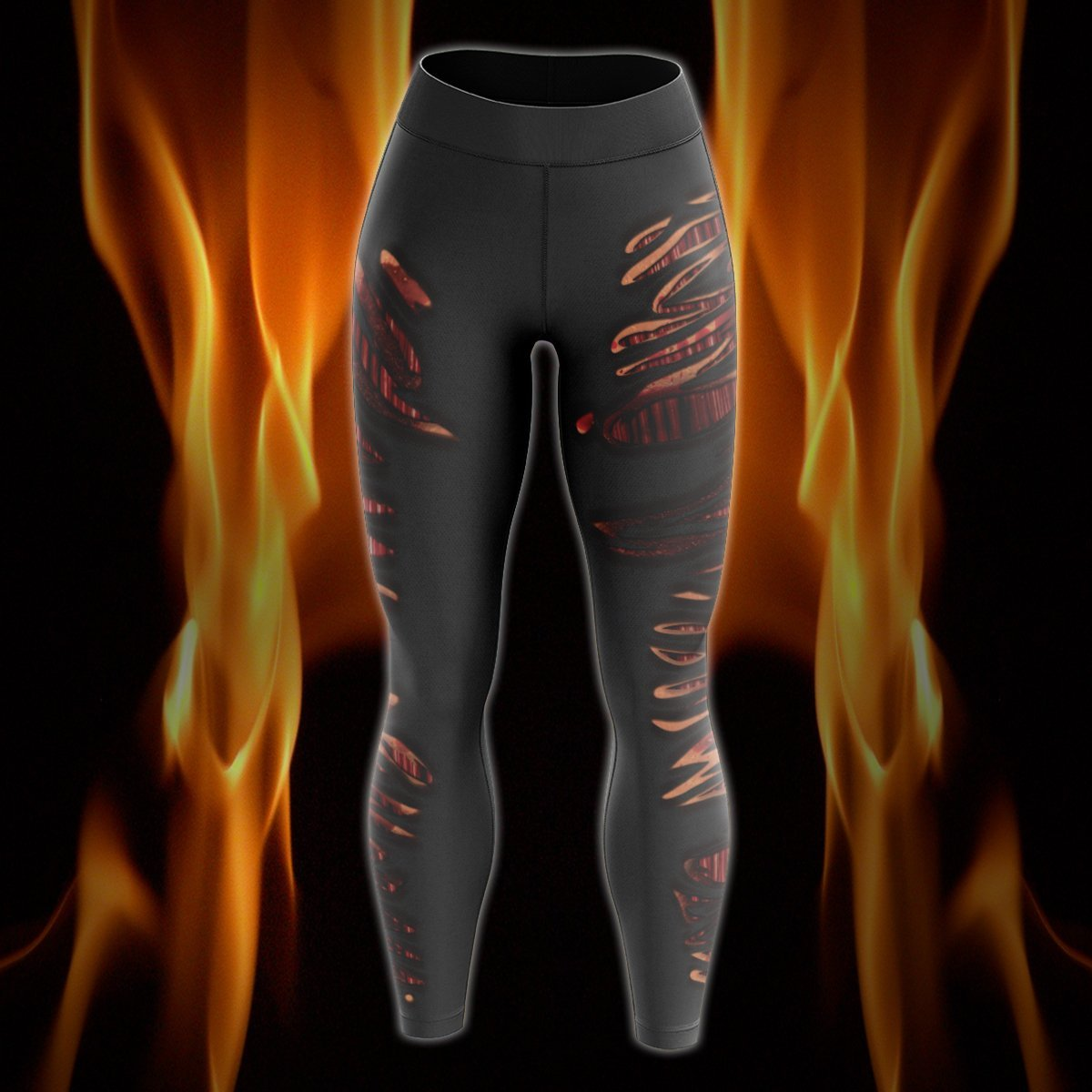Burnt Hot Unisex Tights S Leggings