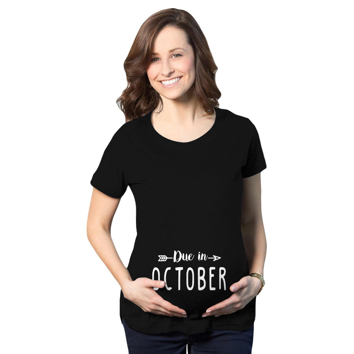 Due in October Maternity T-Shirt